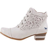 Ghete & Cizme Lace Up Boot With Embroidery Ankle Boots In Ice Femei