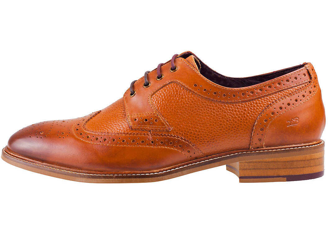 London Brogues Hamilton Derby Shoes In Tan Tan