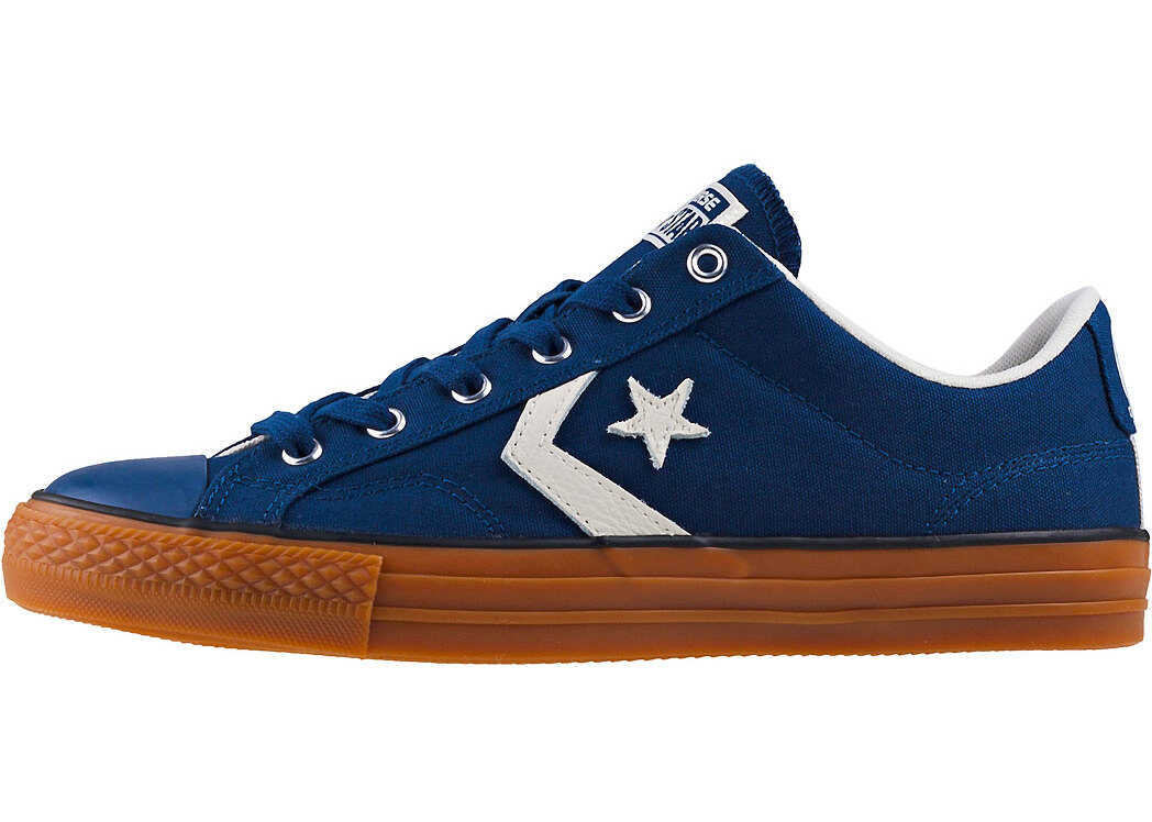 Converse Star Player Ox Trainers In Navy Gum Blue