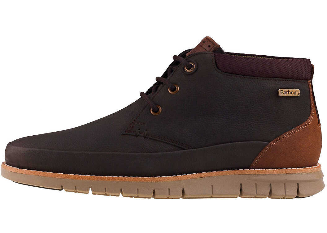 Barbour Nelson Boot Chukka Boots In Dark Brown Brown