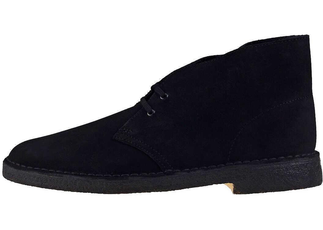 Clarks Desert Boot Chukka Boots In Black Black Black