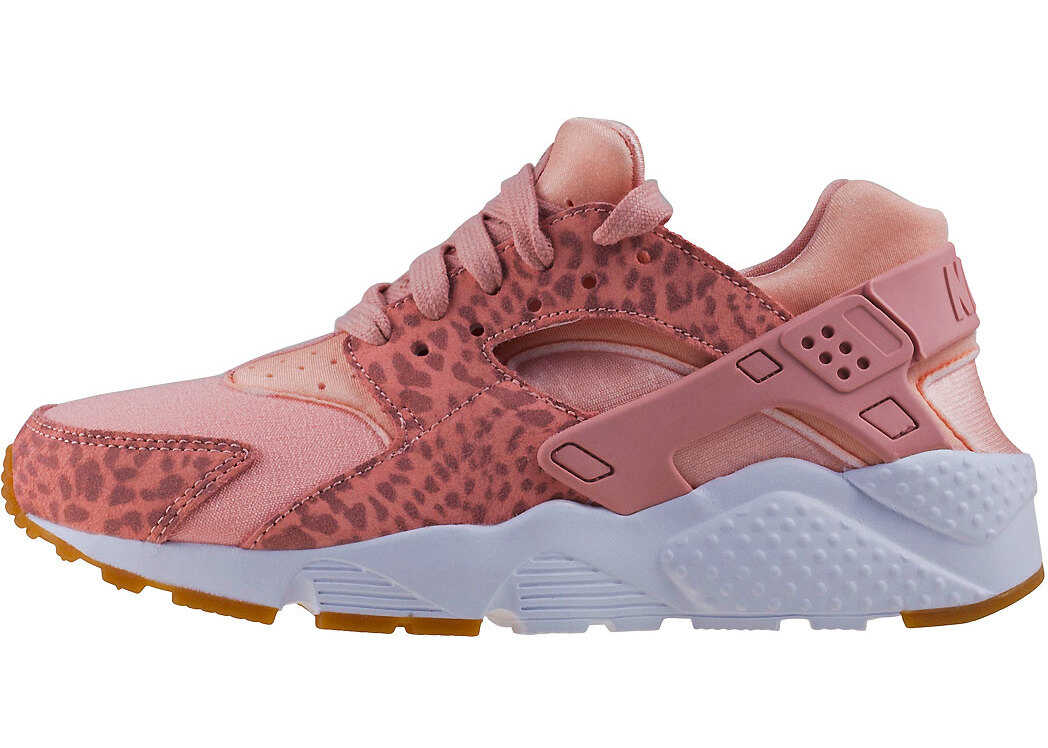 Nike Huarache Run Se Gs Kids Trainers In Coral Red