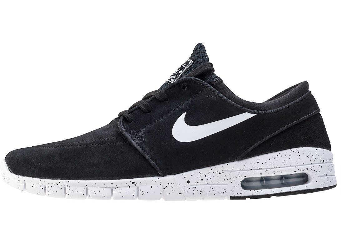 Nike SB Stefan Janoski Max L Trainers In Black White Black