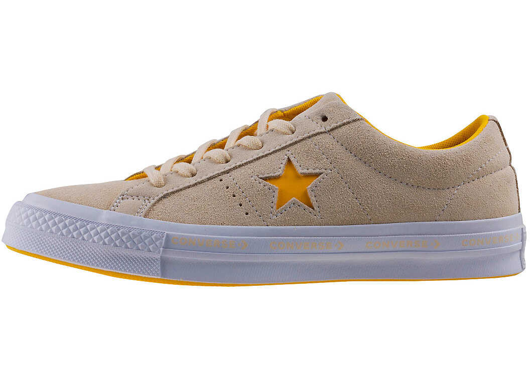 Converse One Star Ox Trainers In Pastel Yellow Yellow