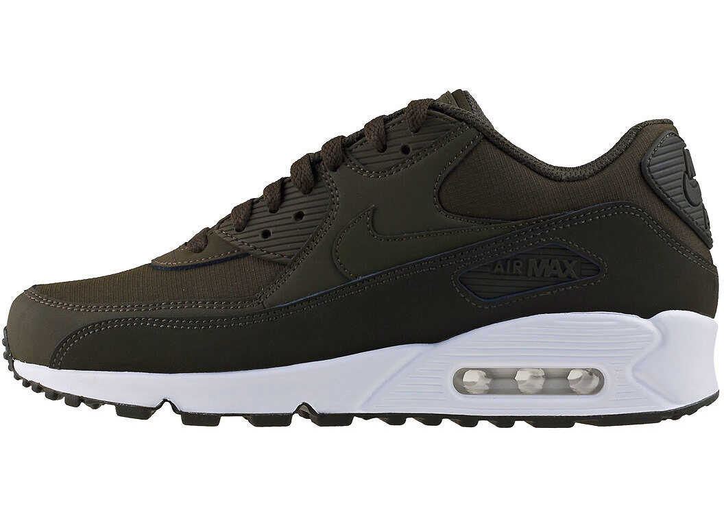 Nike Air Max 90 Essential Trainers In Khaki White Brown