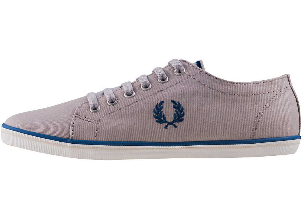 Fred Perry Kingston Trainers In Silver Silver