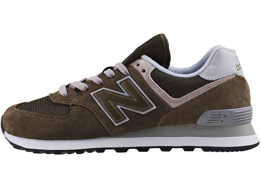 New Balance Classics Ml574 Essential Classic Trainers In Olive Olive