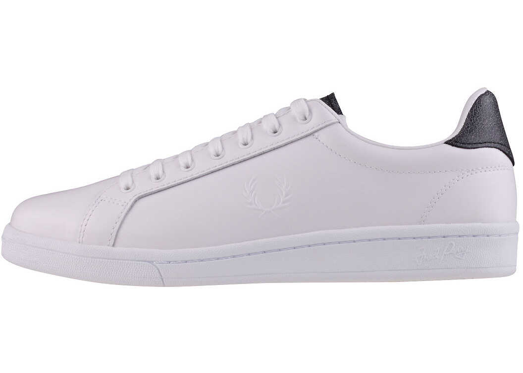 Fred Perry B721 Premium Unisex Trainers In White Black White
