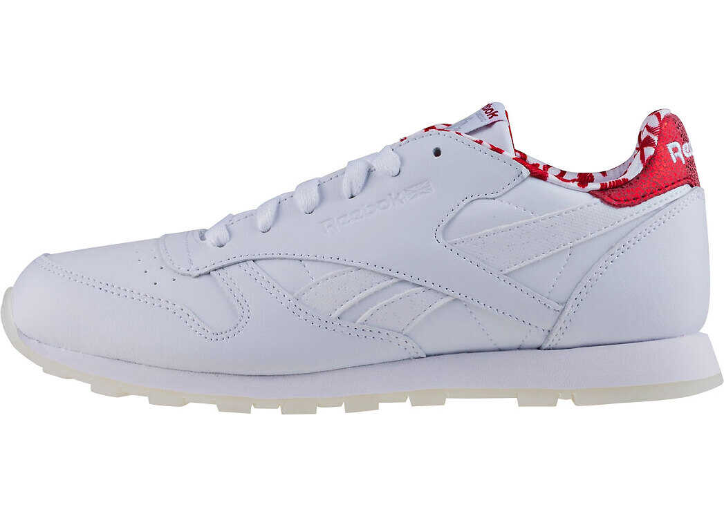 Reebok Classic Leather Hearts Kids Trainers In White Red White