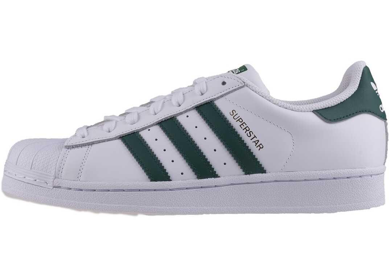 adidas Superstar Unisex Trainers In White Green White