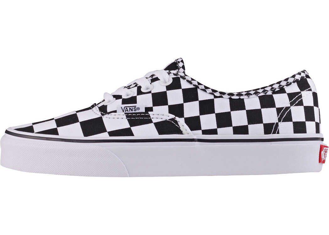 Vans Authentic Mix Checker Unisex Trainers In Black White Black