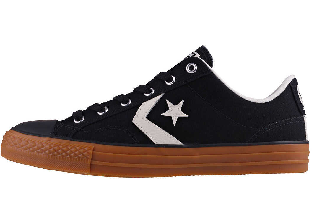 Converse Star Player Ox Trainers In Black Gum Black