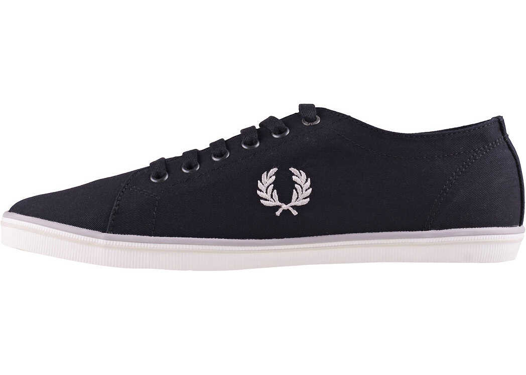 Fred Perry Kingston Unisex Trainers In Black Grey Black