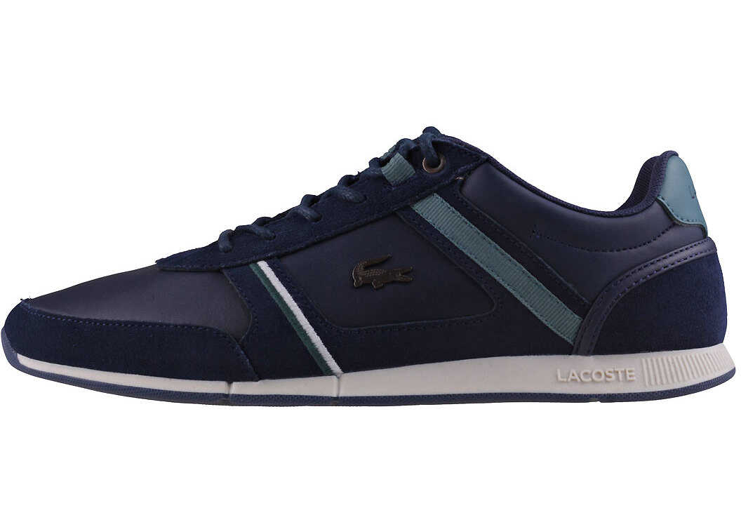 Lacoste Menerva 118 1 Trainers In Navy Green Blue