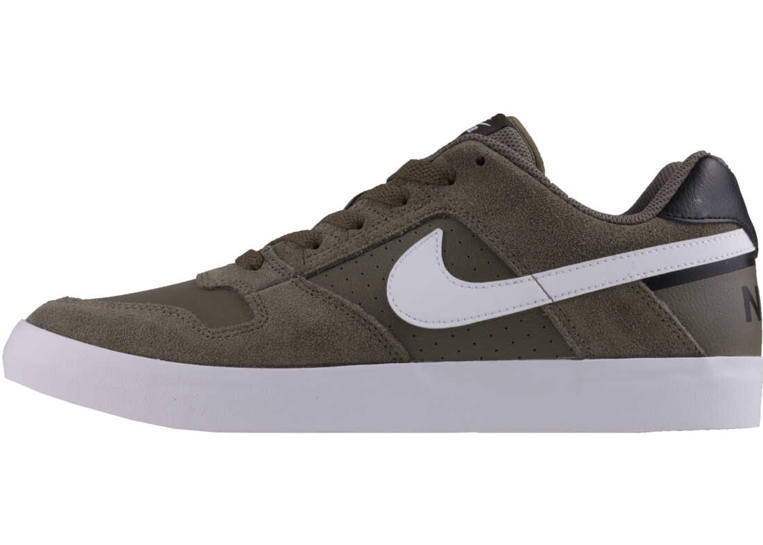 Nike SB Delta Force Vulc Trainers In Olive White Olive