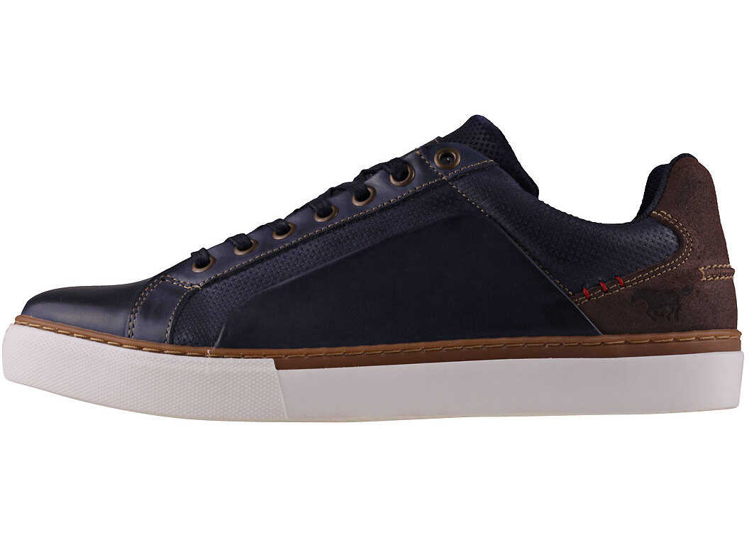 Mustang Fashion Basketball Sneaker Trainers In Navy Blue