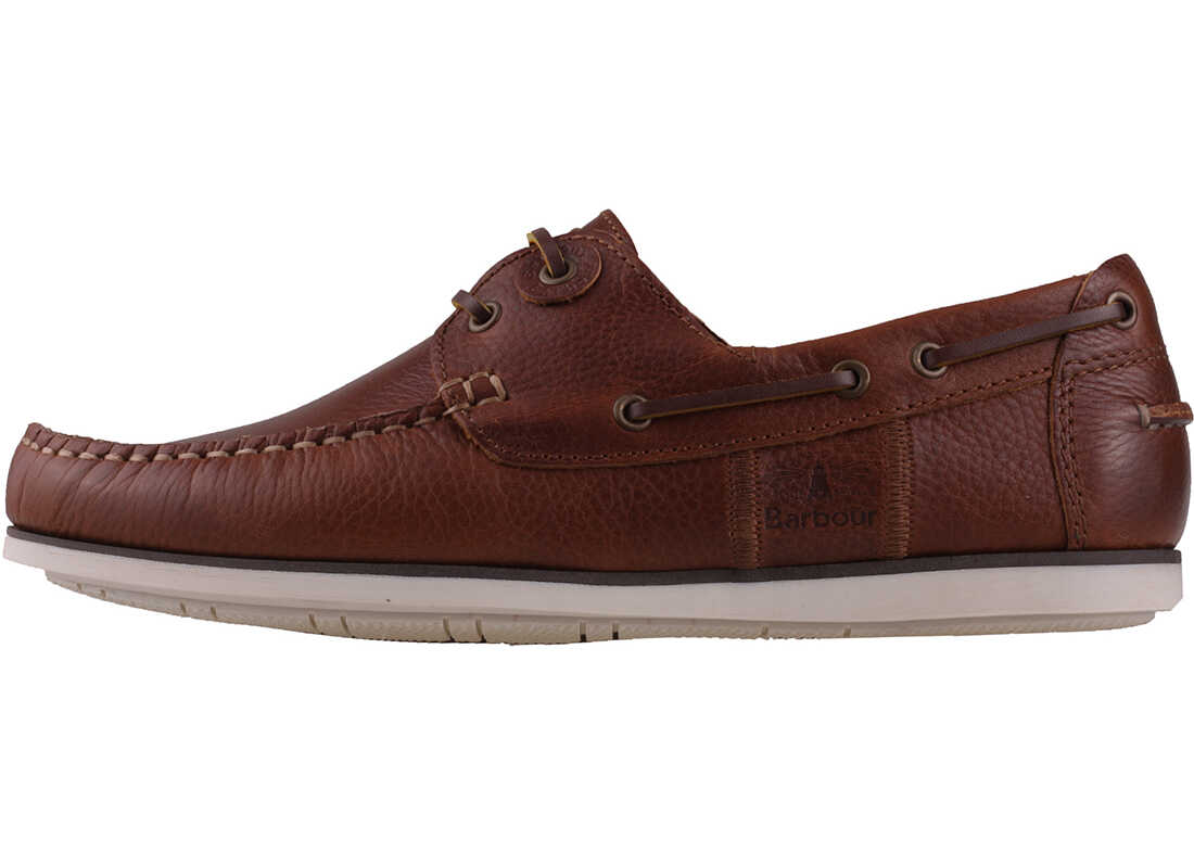 Barbour Capstan Boat Shoes In Tan Tan