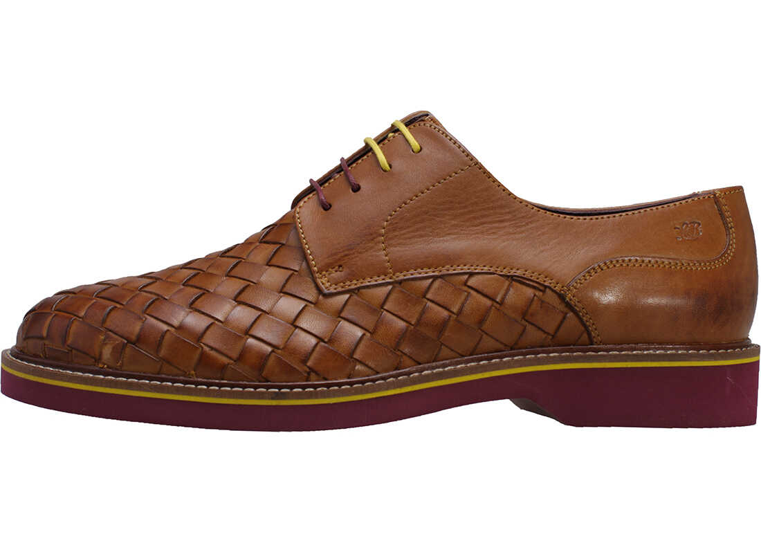London Brogues Branson Woven Shoes In Tan Tan