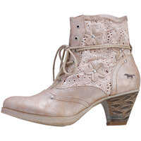 Ghete & Cizme Side Zip Boot With Embroidery Ankle Boots In Bronze Femei