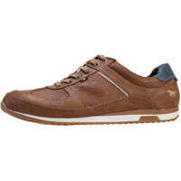 Tenisi & Adidasi Low Top Perforated Sneaker Trainers In Cognac Barbati
