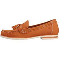 Mocasini Laceless Tassel Loafer Orange Moccasins In Tan Femei