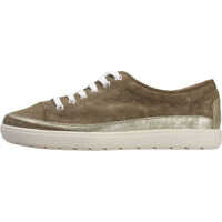 Tenisi & Adidasi Lace-Up Iridescent Low Top Trainers In Khaki Femei
