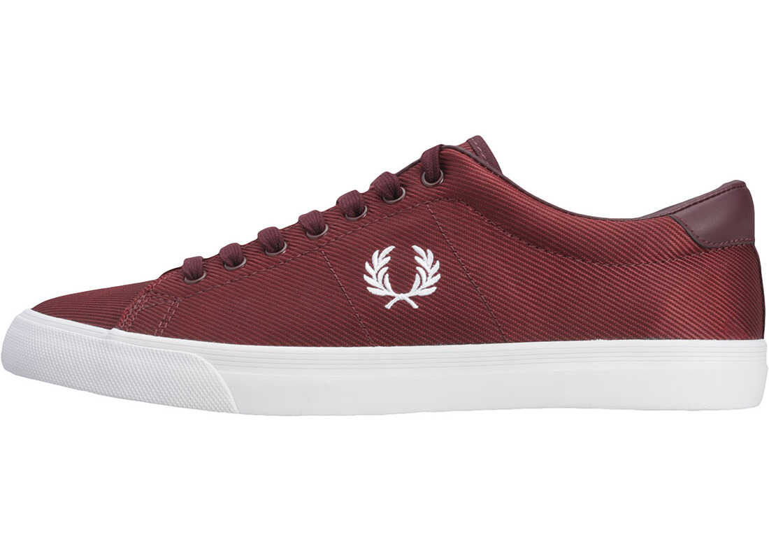 Fred Perry Underspin Trainers In Port Royal Red