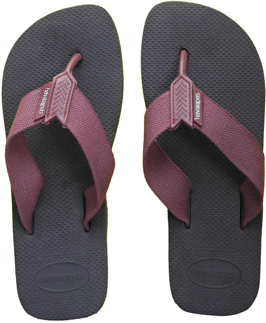 Havaianas Urban Basic Flip Flops In Grey Burgundy Grey