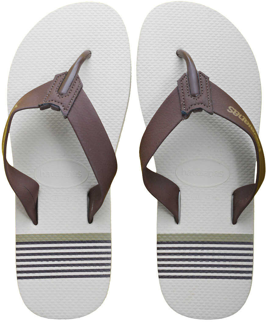 Havaianas Urban Craft Flip Flops In Beige Brown Beige