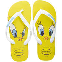 Slapi Looney Tunes Flip Flops In Yellow White Femei