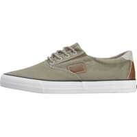 Sneakers Lace-Up Low Top Trainers In Olive Barbati