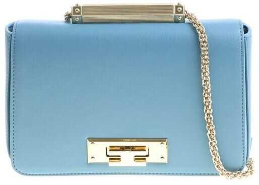 Elisabetta Franchi Light-Blue Eco-Leather Bag Light Blue
