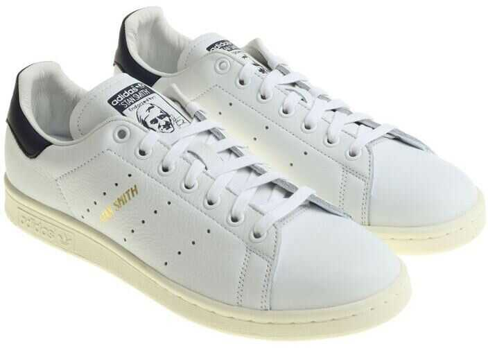 adidas Originals White And Blue Stan Smith Sneakers White