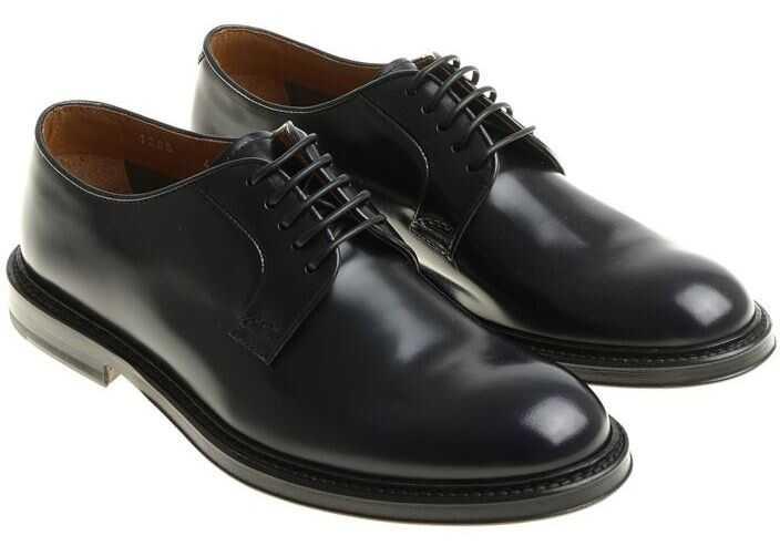Doucals Blue Derby Shoes Blue