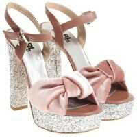Incaltaminte Karl Lagerfeld Pink Velvet Sandals