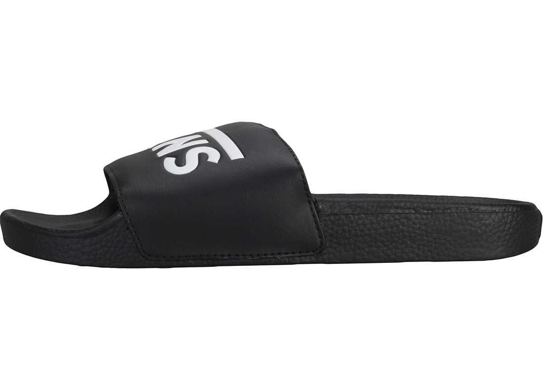 Vans Slide-On Sandals In Black White Black
