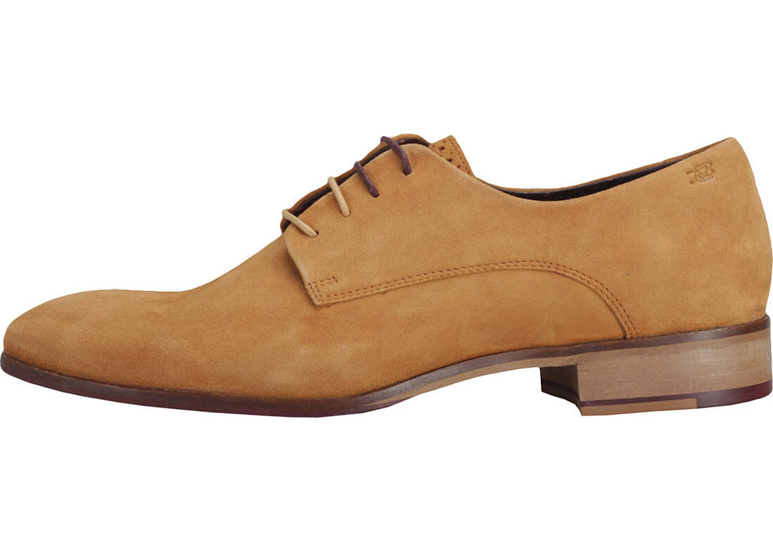 London Brogues Wister Derby Shoes In Camel Brown