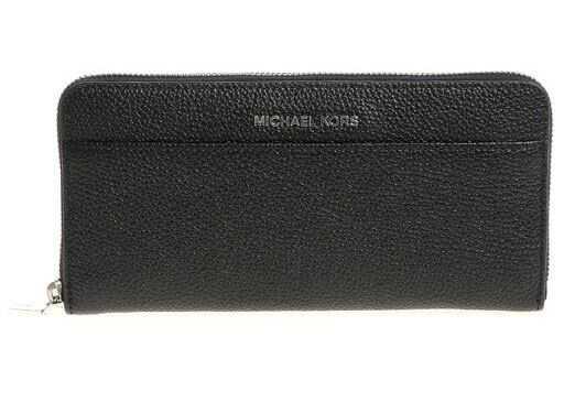 Michael Kors Black Hammered Leather Wallet Black