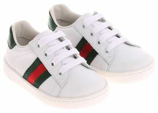 Gucci White Leather Sneakers White