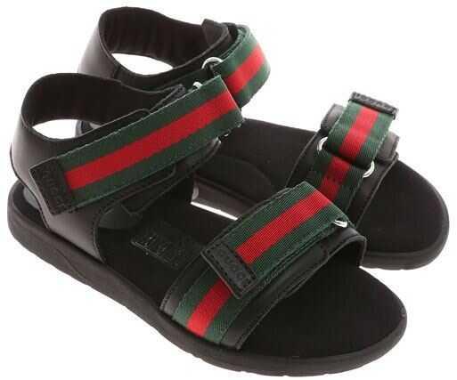 Gucci Black Sandals With Logo Black