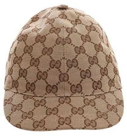 Gucci Beige Monogram Cap Beige