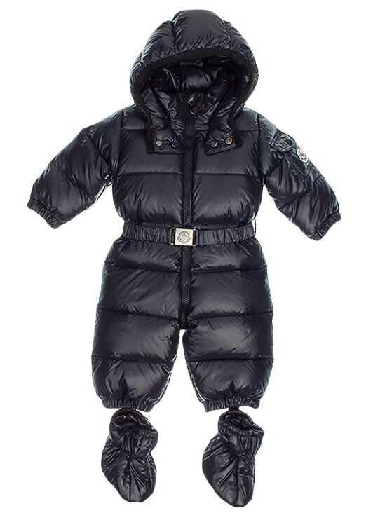 Moncler Kids Amandes Snow Suit Blue