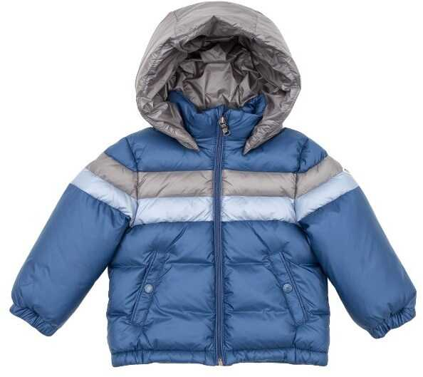 Moncler Kids Rogatien Down Jacket Blue
