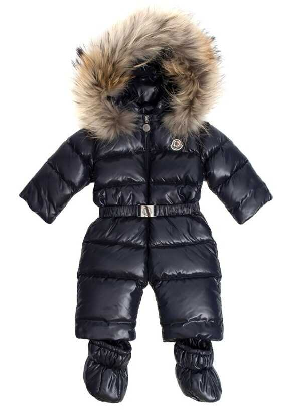 Moncler Kids Crystal Padded Suit Blue