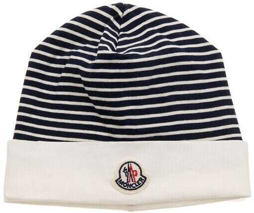Moncler Kids Cotton Cap Blue