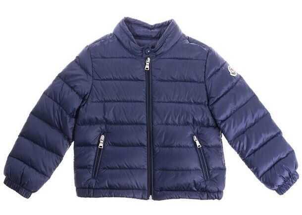 b93780ccd Geci Moncler Kids Blue Acorus Down Jacket Blue Baieti - Boutique ...