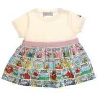 Rochii White Dress With Cartoon Pattern Fete