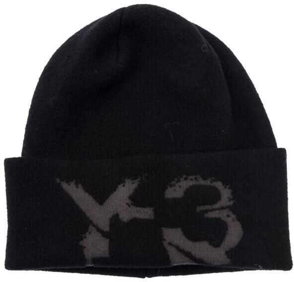 Y-3 Mohair Cap Black