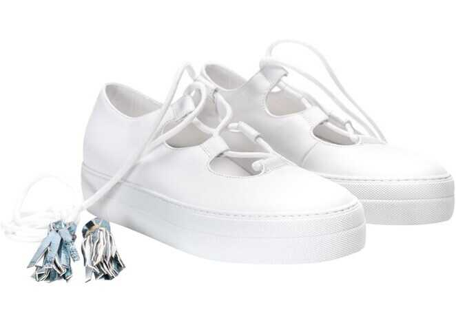 L'Autre Chose Leather Sneakers OSC431.40MG2020E100 White imagine b-mall.ro