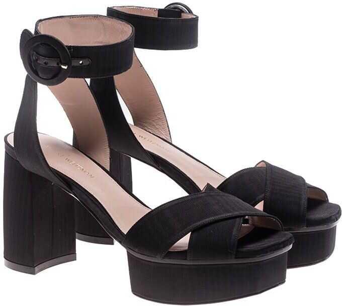 Stuart Weitzman Black Carmina Sandals Black